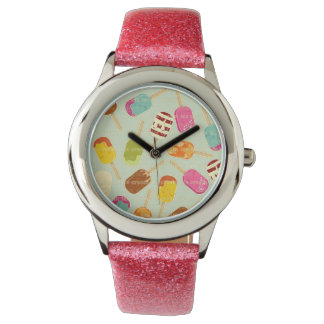 Ice Cream Pattern Wristwatch