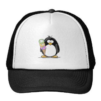 Ice Cream Penguin Mesh Hats
