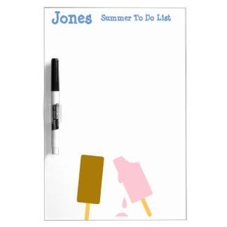 Ice Cream Personalized Summer Fun Dry Erase Board