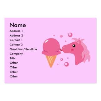 Ice Cream Pony Business Cards Chubby Business Cards