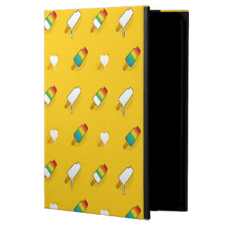 Ice cream pop art cool bright rainbow pattern cover for iPad air