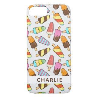 Ice Cream Popsicles custom name phone cases
