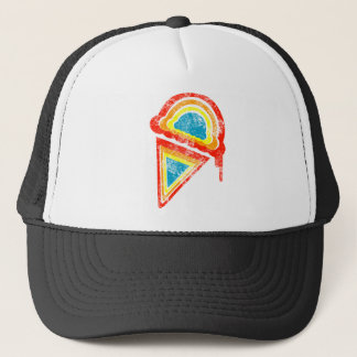 ice cream rainbow dripz trucker hat