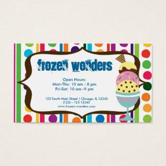 Ice Cream salon Business Card