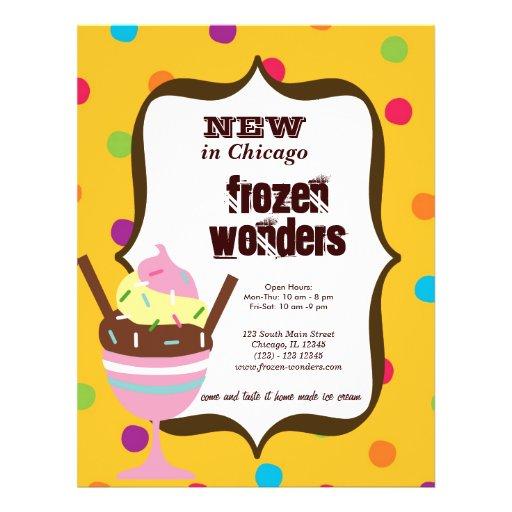 Ice Cream Salon Personalized Flyer