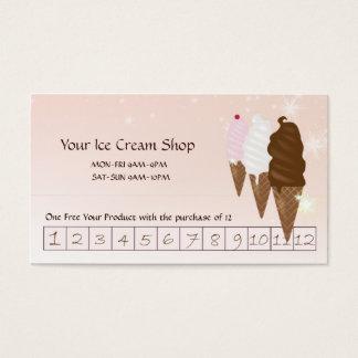 Ice Cream Shop Discount Card Custom