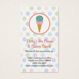 Ice Cream Shop Loyalty Rewards Business Card
