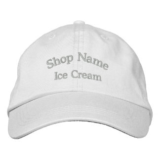 Ice Cream Shop Name Embroidered Hat