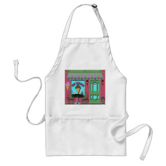 Ice Cream Shop store front apron
