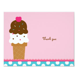 Ice Cream Shop Thank You Note Cards 11 Cm X 14 Cm Invitation Card