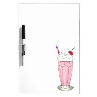 Ice Cream Shoppe Strawberry Pink Milkshake Foodie Dry-Erase Whiteboards