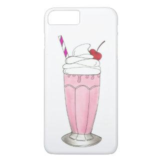 Ice Cream Shoppe Strawberry Pink Milkshake Foodie iPhone 8 Plus/7 Plus Case