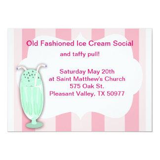 "Ice Cream Social 5"" X 7"" Invitation Card"