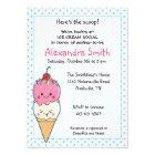 Ice Cream Social Baby Shower Card