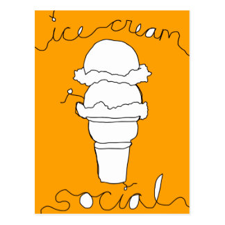 ice cream social strings postcards