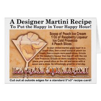 Ice Cream Soda Martini Recipe Greeting Note Card