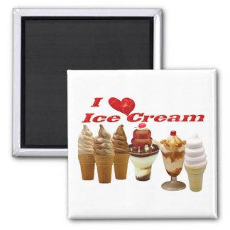 Ice Cream Square Magnet