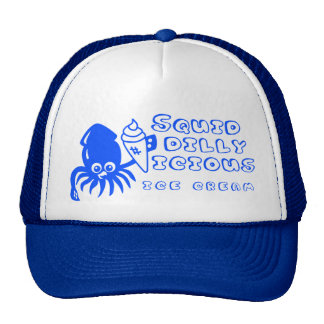 Ice Cream Squid Hat - Blue