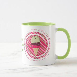 Ice Cream Strawberry Swirl Mug