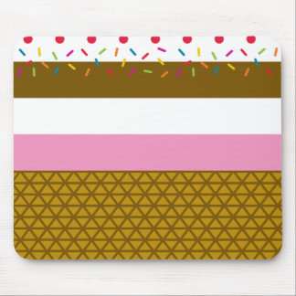Ice Cream Stripe Mousepad
