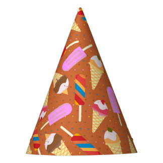 Ice cream summer pattern Birthday Party Party Hat
