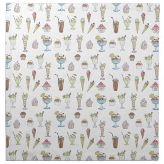 Ice Cream Sundae Collage Napkin