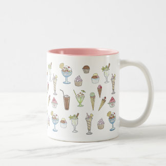 Ice Cream Sundae Collage Two-Tone Coffee Mug