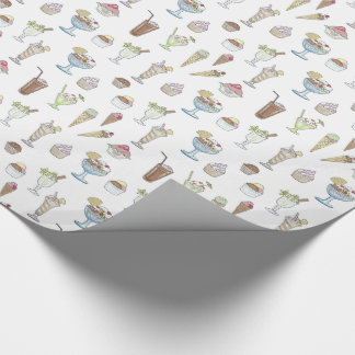 Ice Cream Sundae Collage Wrapping Paper
