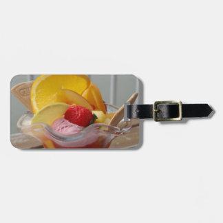 Ice Cream Sundae custom luggage tag