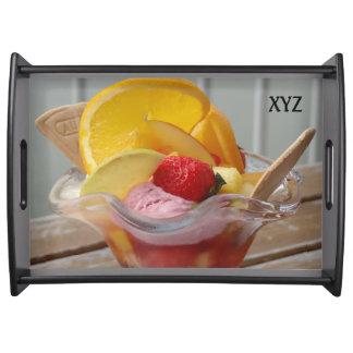 Ice Cream Sundae custom monogram serving tray