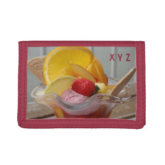 Ice Cream Sundae custom monogram wallets