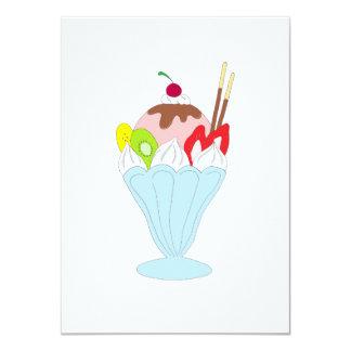 Ice Cream Sundae 11 Cm X 16 Cm Invitation Card