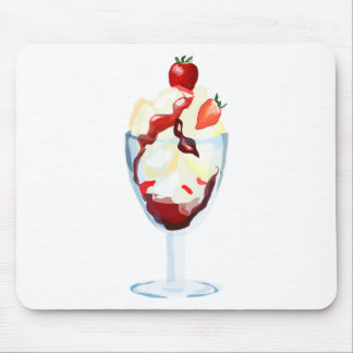 Ice Cream Sundae Mouse Mat