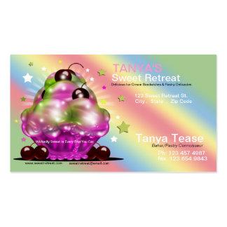 Ice Cream Sundae Tart Cherry Topping Business Card