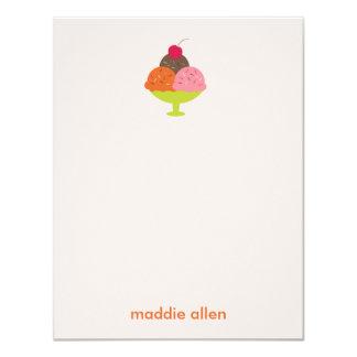 Ice Cream Sundae Thank You Cards (Pink)