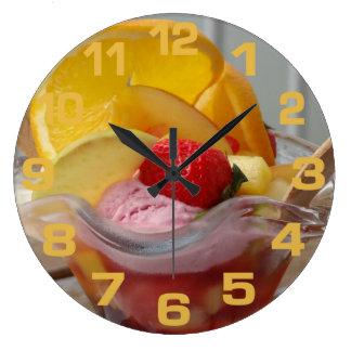 Ice Cream Sundae wall clocks