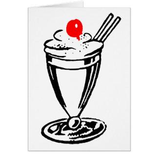 Ice Cream Sundae with Cherry on Top Card