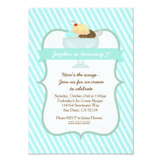Ice Cream Sweets Birthday Party Invitation