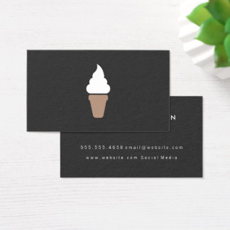 Ice Cream Swirl Icon gray Business Card