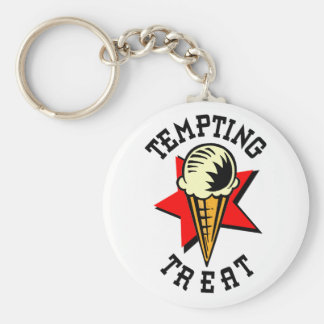 Ice Cream Tempting Treat Key Ring