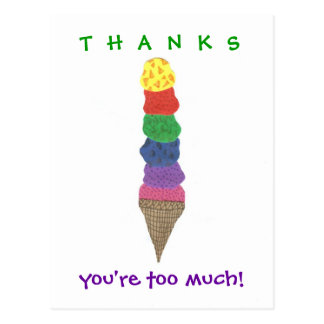 Ice cream thank-you postcard