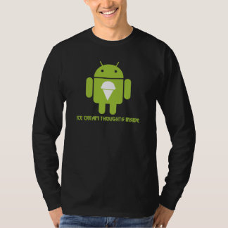 Ice Cream Thoughts Inside (Android Bug Droid) T-Shirt