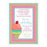 Ice Cream Treats Birthday Invitations