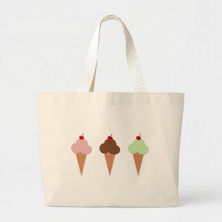 Ice Cream Trio Large Tote Bag