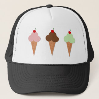 Ice Cream Trio Trucker Hat