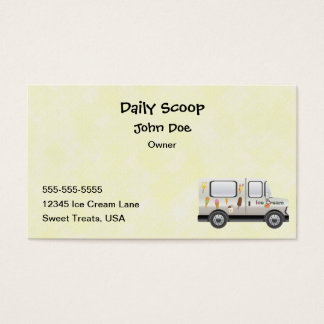 Ice Cream Truck Business Card