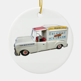 Ice Cream Truck Christmas Ornament