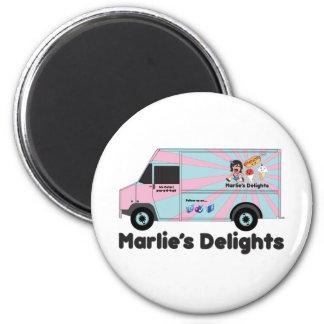 Ice cream truck png fridge magnet