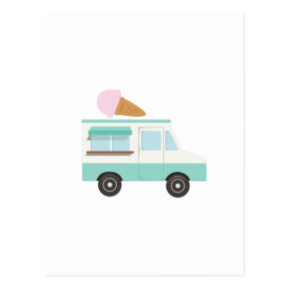 Ice Cream Truck Postcard