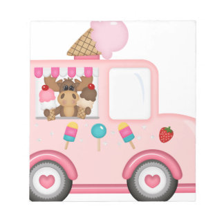 Ice Cream truck with moose Notepad